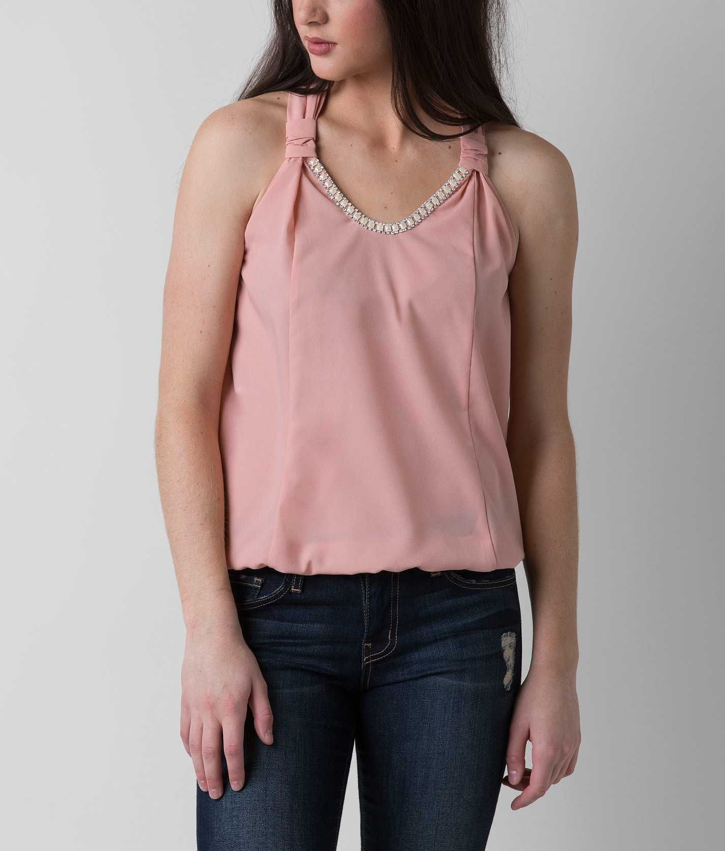 86cdf3430da4b4 Daytrip Embellished Tank Top - Women s Tank Tops in Peach