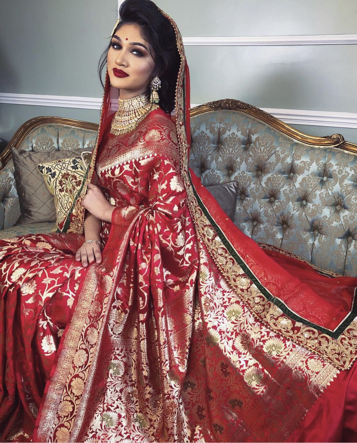 Bangladeshi Bride Bridal Lehenga Red Bridal Saree Indian Bridal Dress