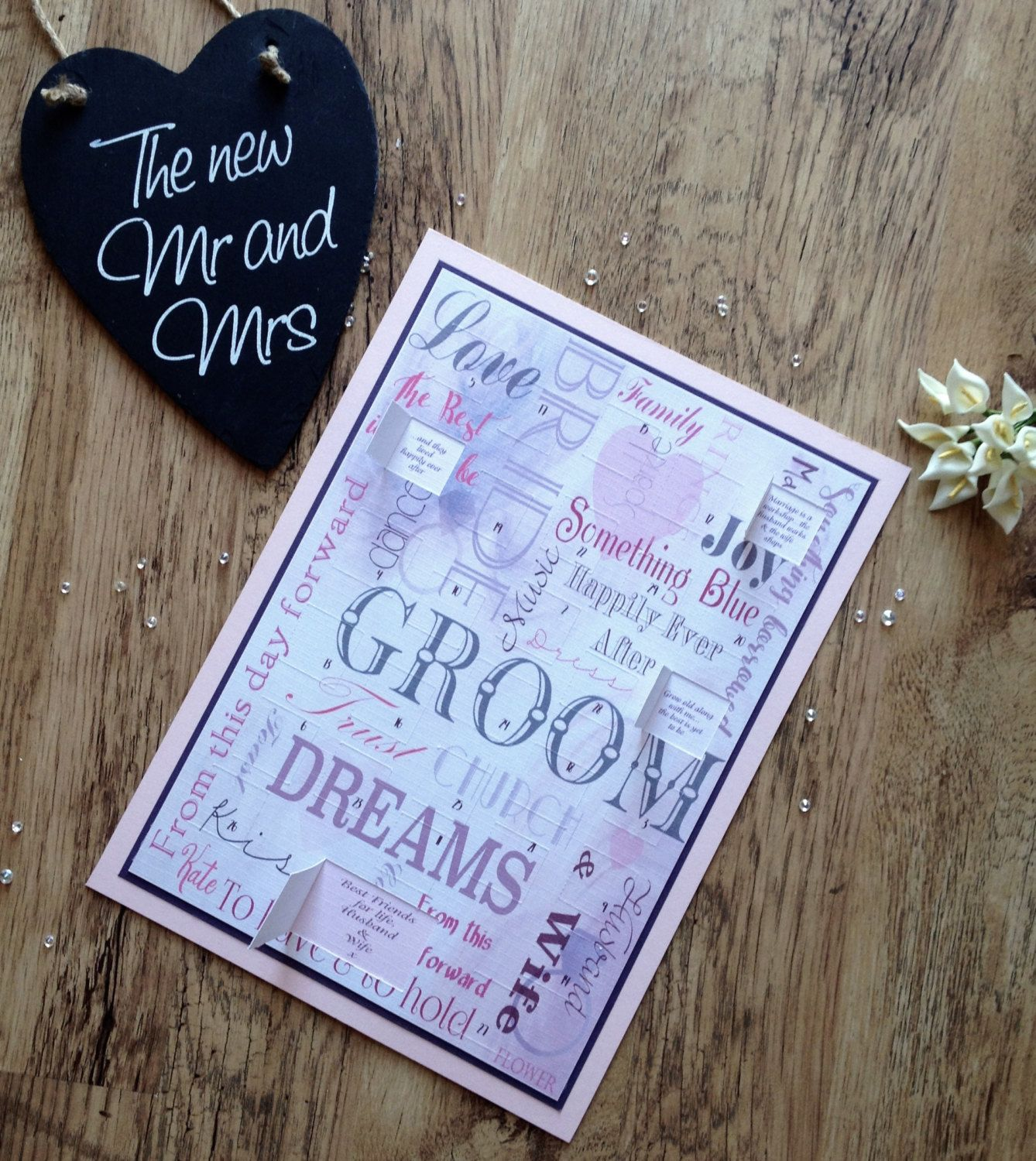 Wedding Countdown Gifts For Bride: Wedding Advent Calendar, Wedding Countdown Advent Calendar