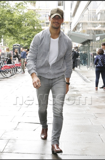 David Gandy Celebrities out and about, London Collections Men, Fashion Week, London - 13 Jun 2016