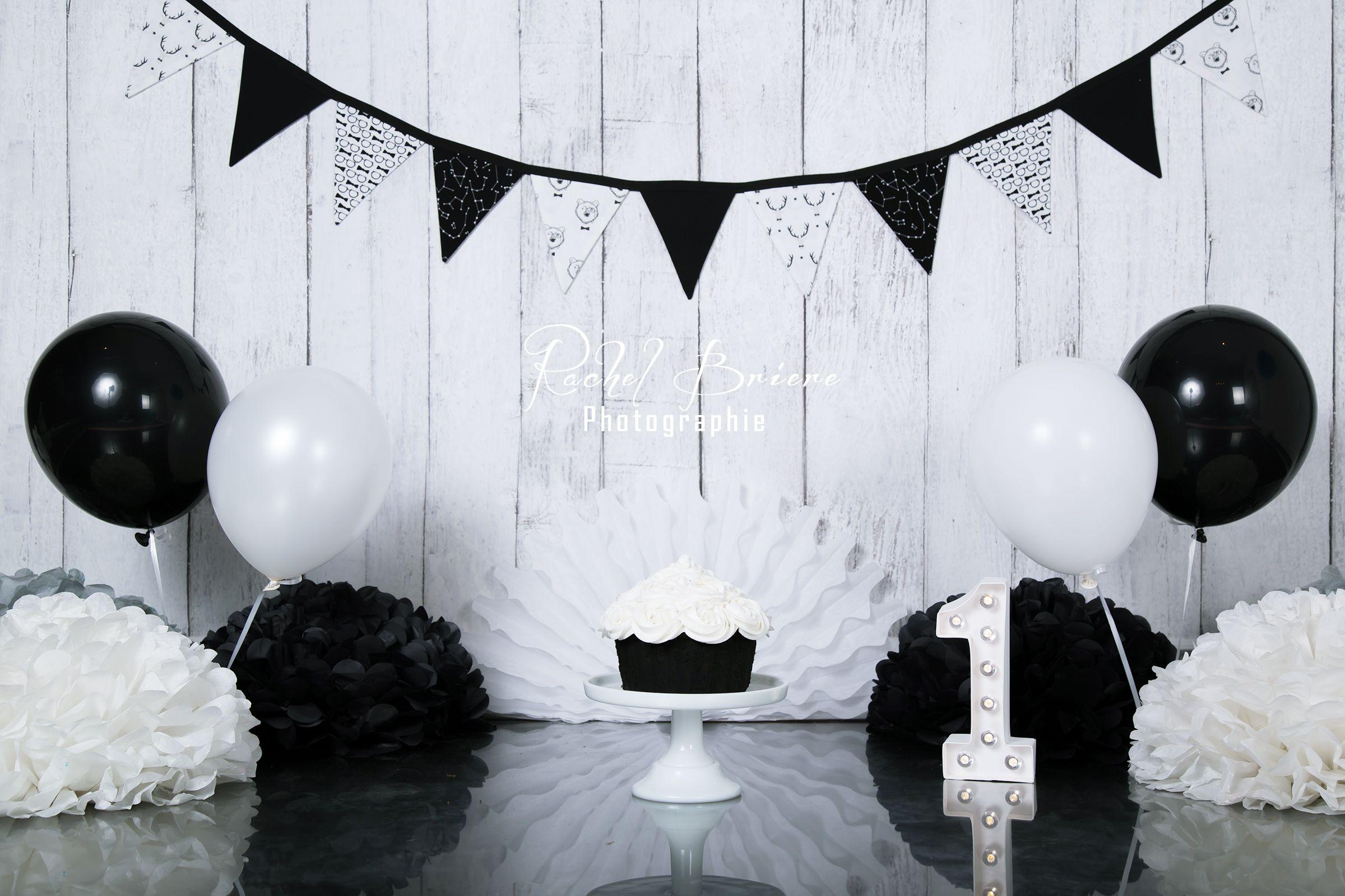Black And White Smash The Cake Idea Smash Cake Photoshoot Smash