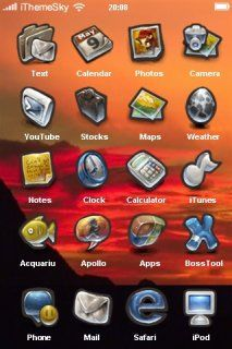 Download free Red Clouds & Sunset IPhone Theme Mobile Theme Apple