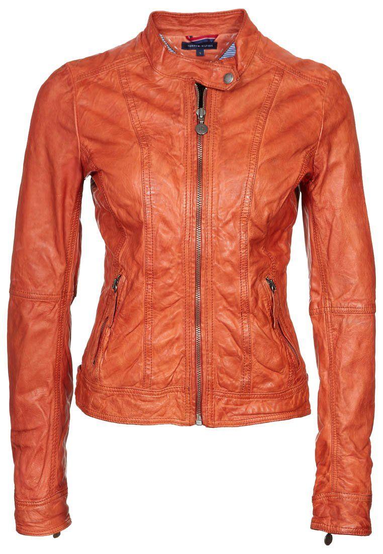 NEW AXSON Leather jacket orange Leather jacket