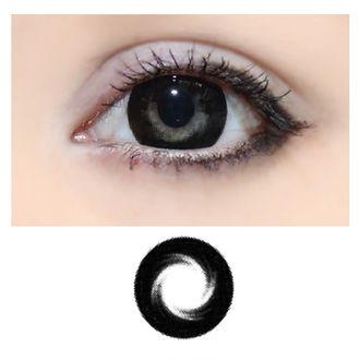 16,00€ Xtra Circle Swirl -Musta -Värillinen Piilolinssi Vahvuuksilla -1 Vuosi (HUOM! 2kpl näitä! vahvuudet -3,50 ja -4,00)