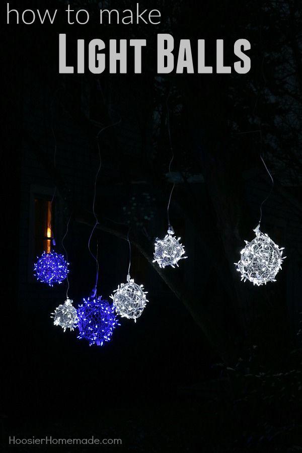 DIY LIGHT BALLS #christmasdecorating #christmaslights DIY Build