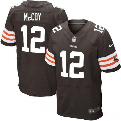 men nike cleveland browns 12 colt mccoy elite brown team color nfl jersey sale