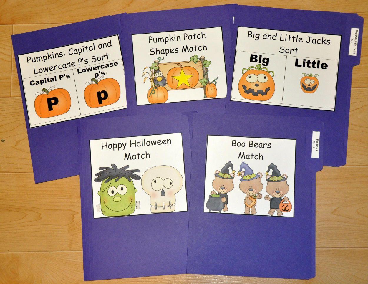 halloween themed file folder games hop into the halloween season with these cute halloween themed - Halloween File Folder Games