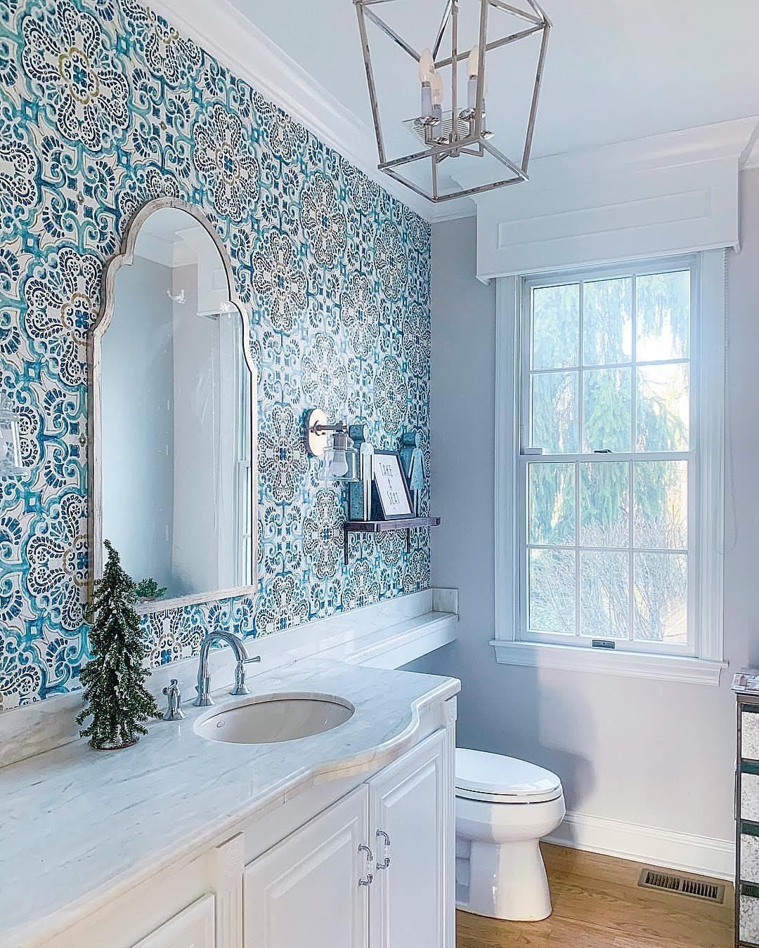 ideas for blue bathroom tiles wallpaper pictures