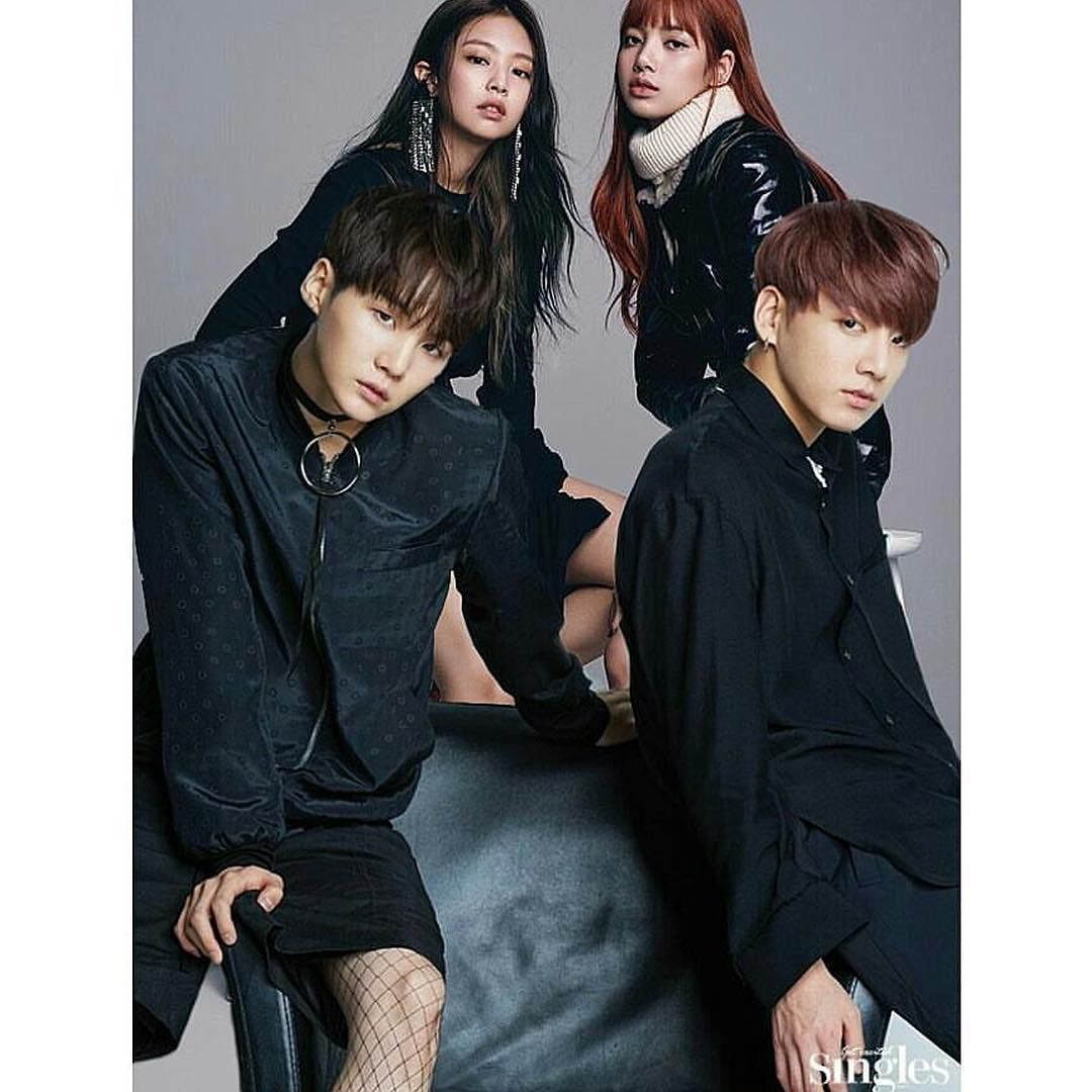 Bts X Blackpink Couple Photoshoot Lizkook Yoonnie Kapal Pasangan Moci