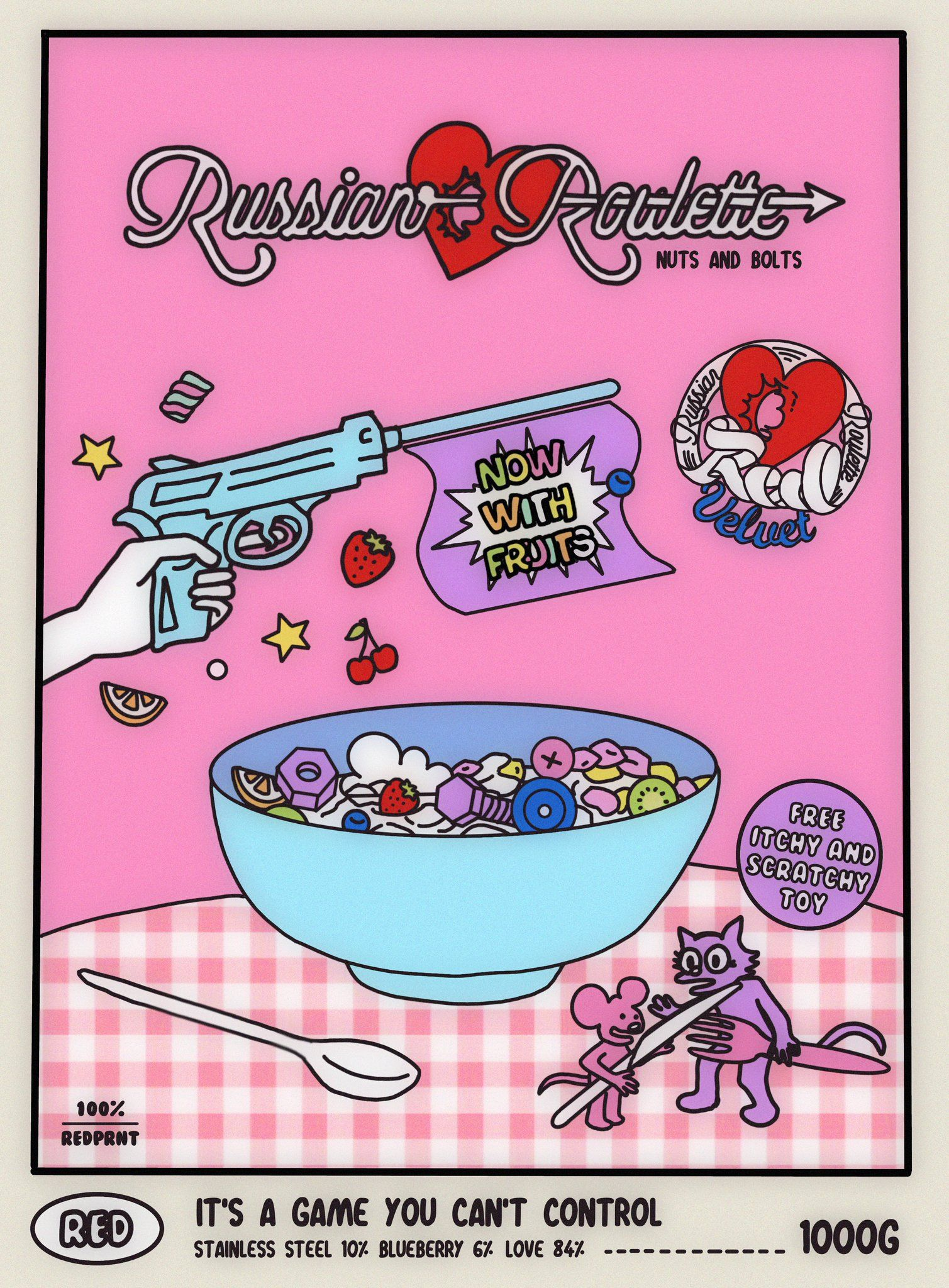 """ً on Twitter: """"russian roulette cereal: nuts and bolts"""