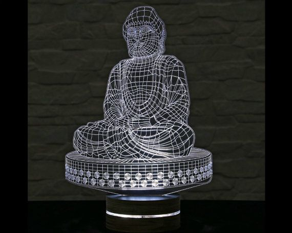 Buddha Shape 3d Led Lamp Buddha Art Buddha Calming Light Acrylic Lamp Yoga Art Office Decor Artistic Lamp Table Light N 3d Led Lamp Yoga Art Led Lamp