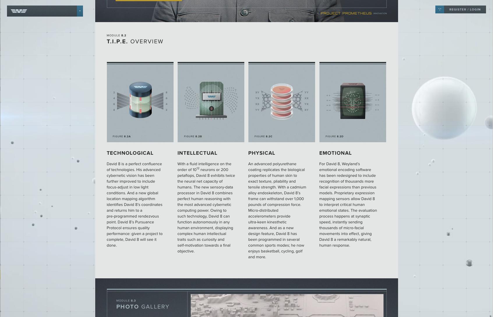 Weyland Industries Prometheus Website Infographic Emotions Photo