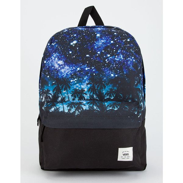 ec4ffce2bb Vans Palm Night Realm Backpack ( 40) ❤ liked on Polyvore featuring bags