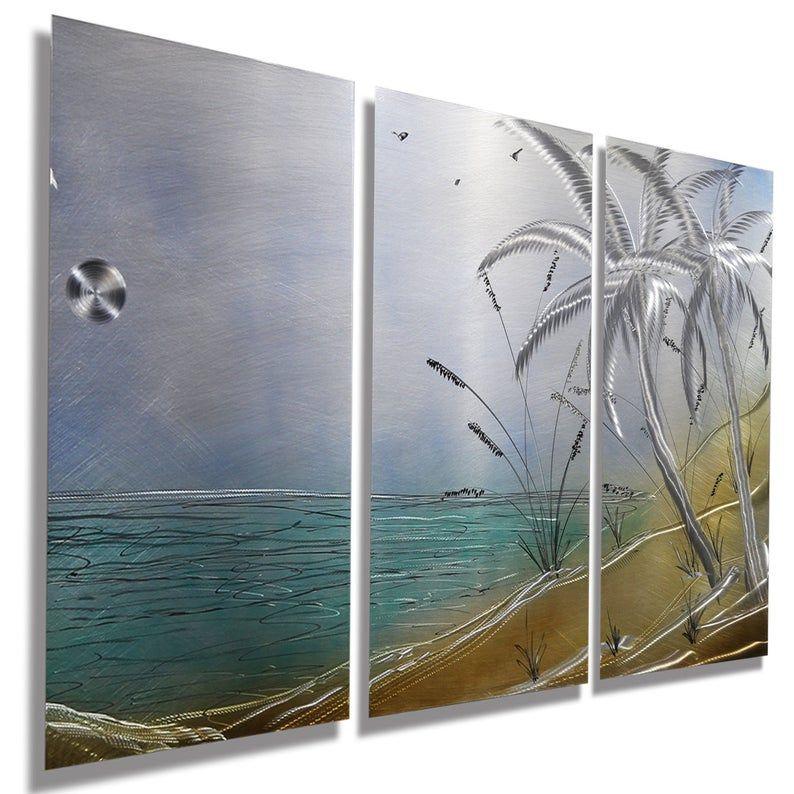 Tropical Metal Wall Art Multi Panel Wall Art Abstract Etsy Artwork Metal Artwork Tropical Metal Wall Art