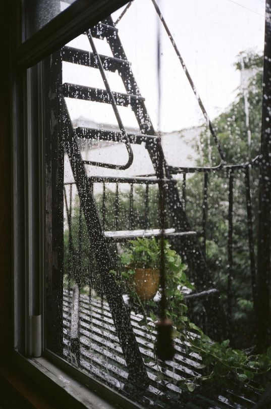 The sound of rain on a Sunday morning