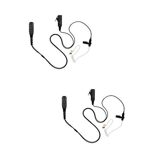 2 Pack Maxtop ASK4038-M9 2-Wire Clear Coil Surveillance