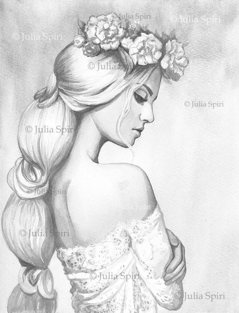 Grayscale Coloring Page Digital Stamp Digi Girl Fantasy Realistic Women Branch Crafting Scrapbooking Black White Romantic Dream Grayscale Coloring Coloring Pages Grayscale [ 1040 x 794 Pixel ]