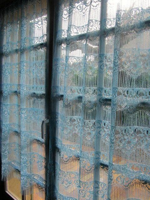 Blue Lace Curtains Bedroom Aqua By HatchedinFrance 4900