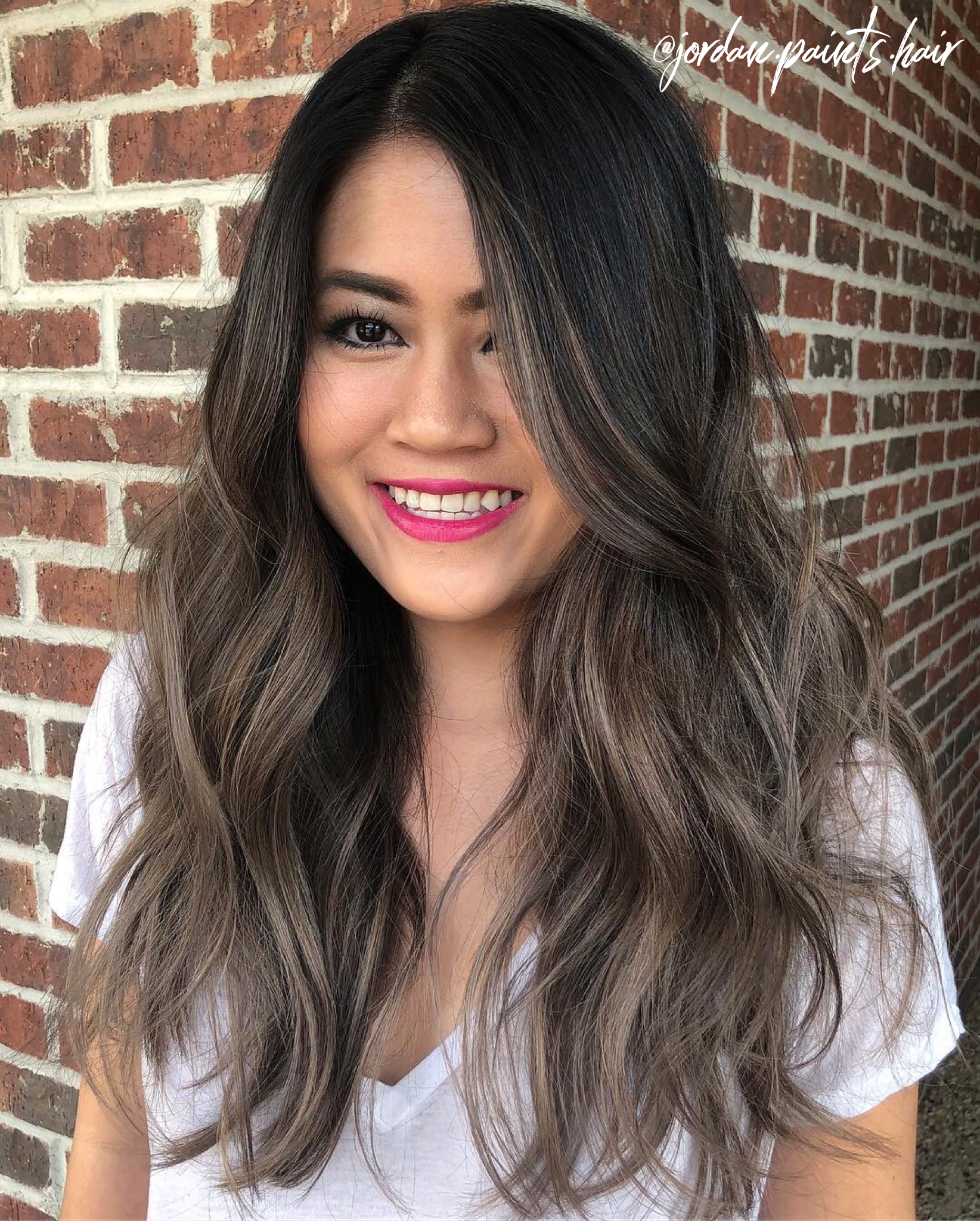 ash brown asian hair | jordan.paints.hair in 2019 | dyed