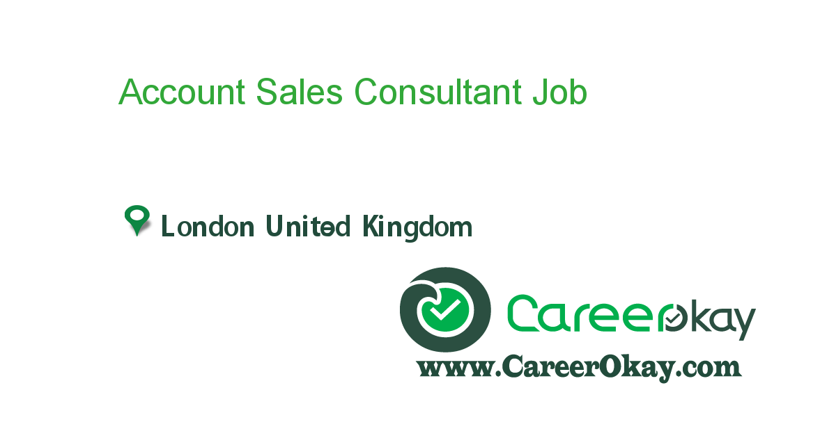 Account Sales Consultant  Jobs In Pakistan    London