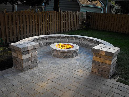 A Way To Separate The Fire Pit From Other Parts Of The Back Yard Fire Pit Landscaping Backyard Fire Pit