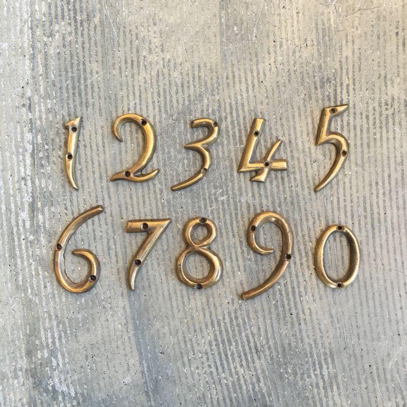 House Number Gold 建材 ドアノブ フリー素材 イラスト