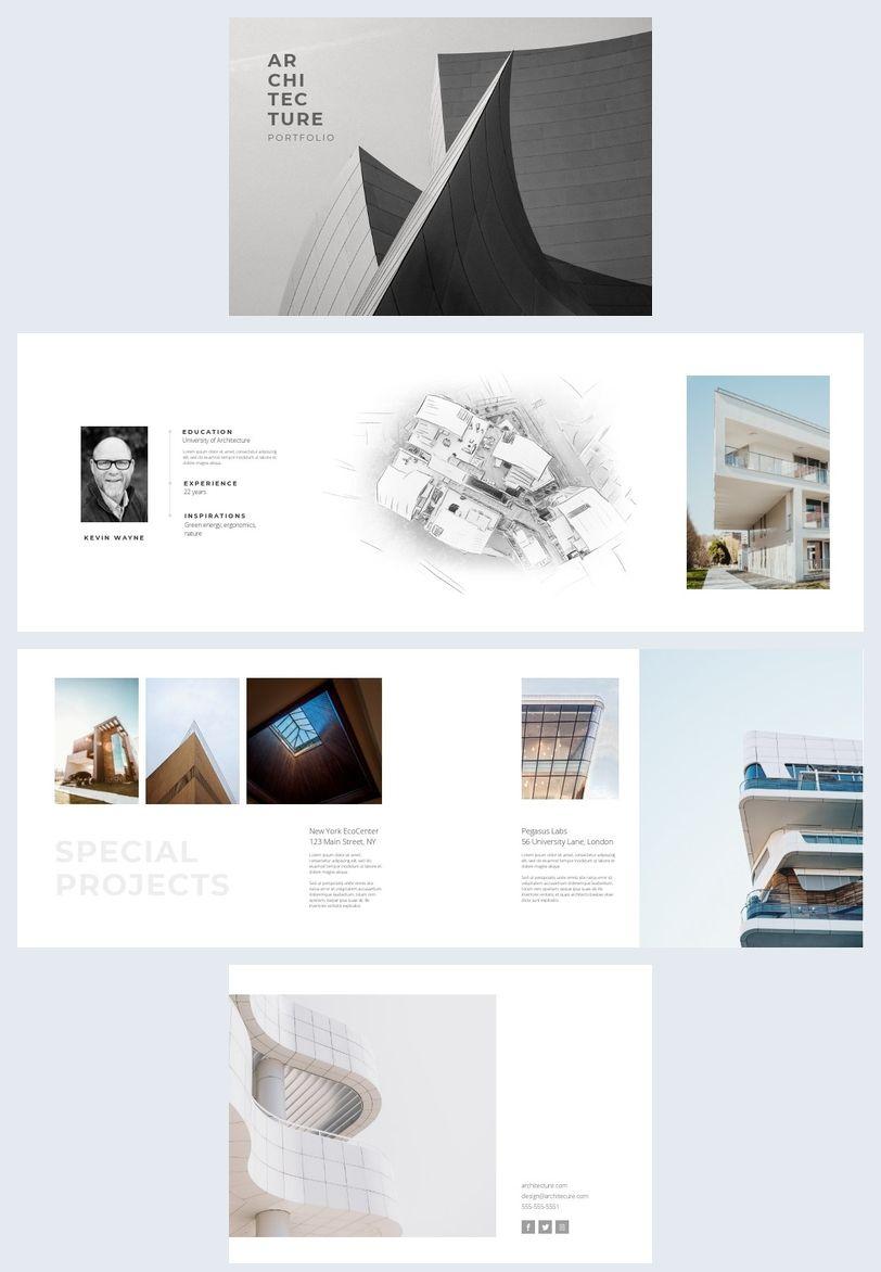 Creative Architecture Portfolio Template   Architecture portfolio ...