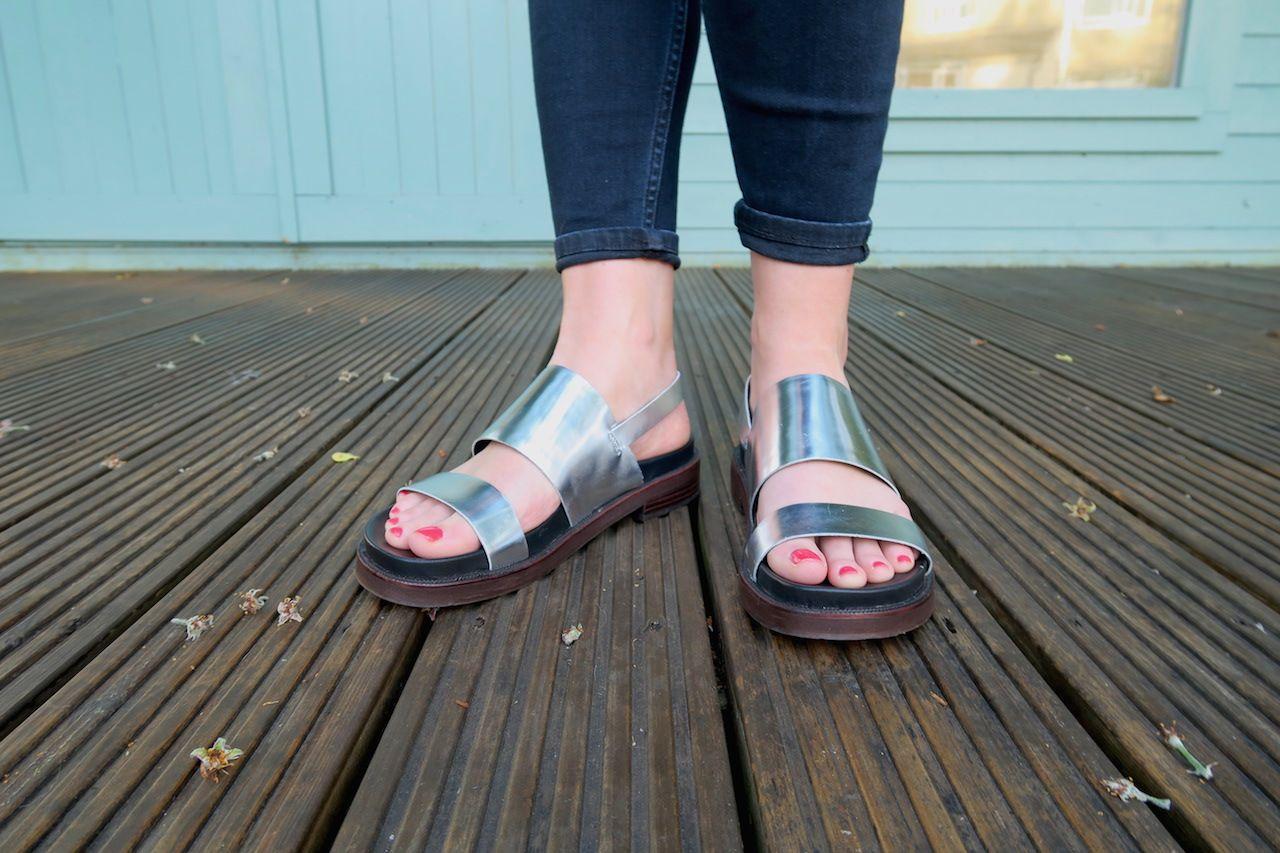 1d8f0a82ef7d0a Clarks Zena Mae metallic sandals