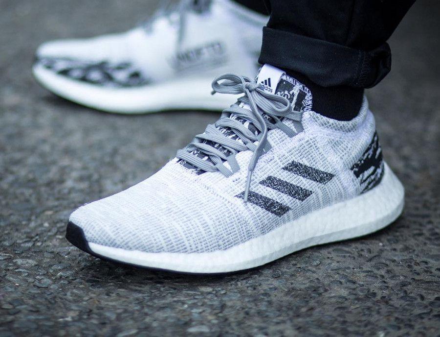 Adidas PowerMen's Undefeated Boost Core Sneakers In Ultra lFJcK1