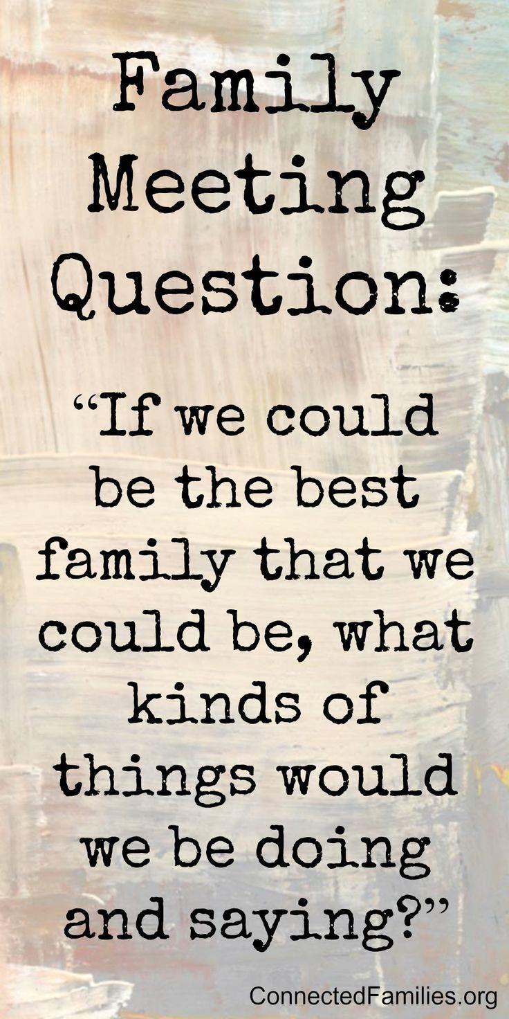 family meetings  family meetings