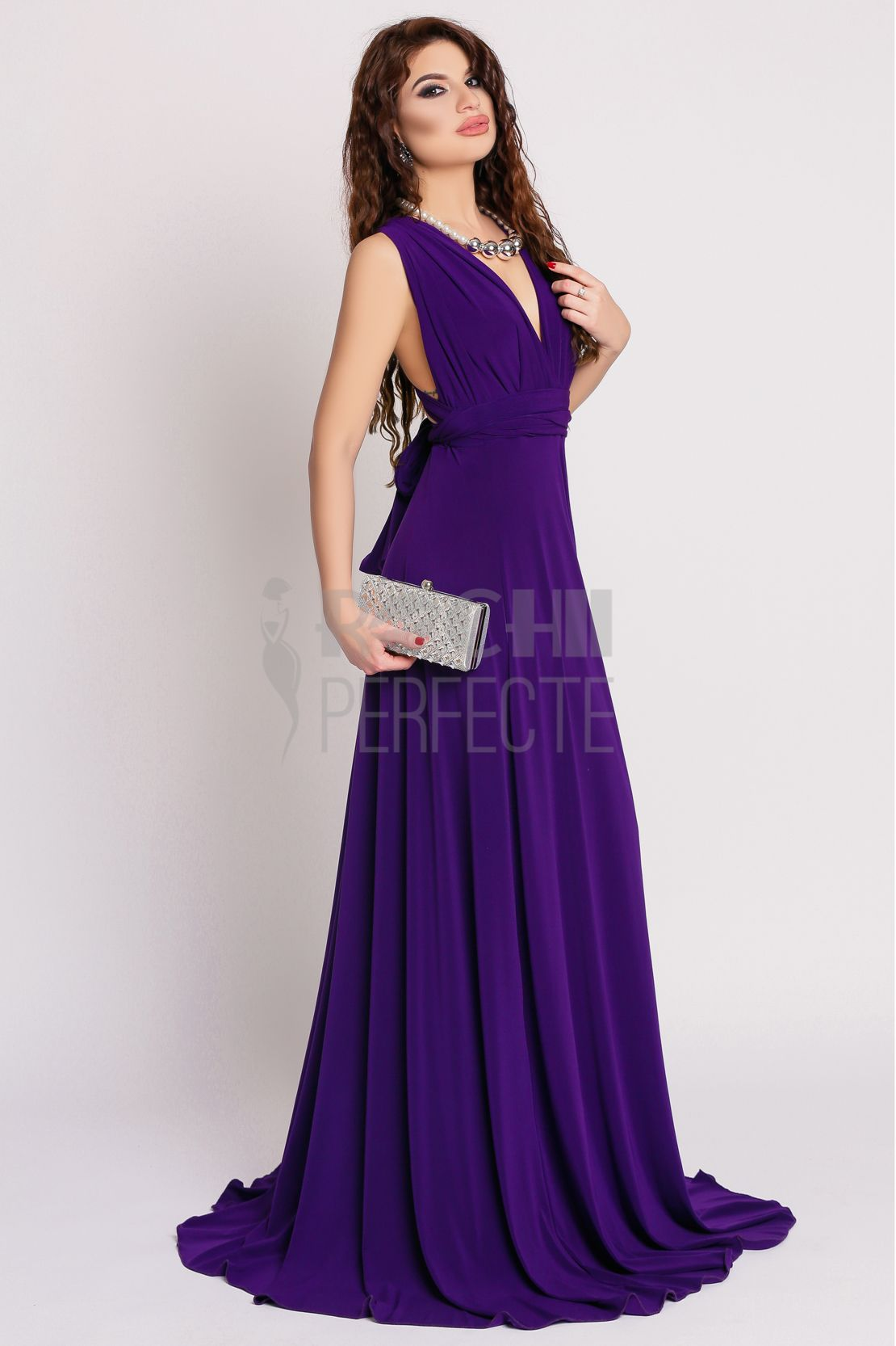 Rochie lunga mov | dresses | Pinterest