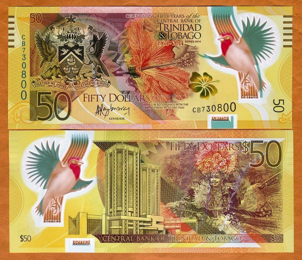 Polymer New Design 2019 100 dollars Trinidad and Tobago P-NEW UNC