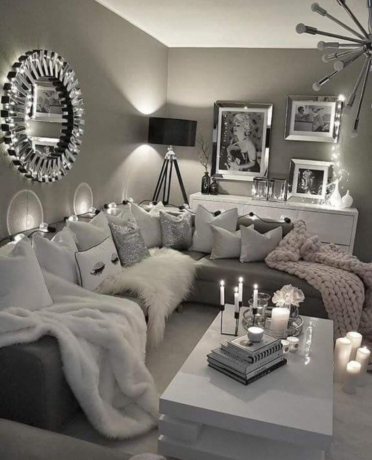 Deco Decoration Interieur Love White Black Gris World
