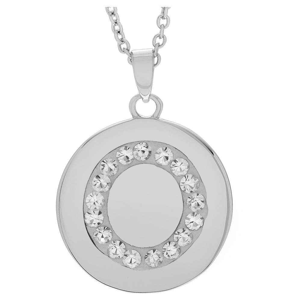 Womenus journee collection brass circle initial pendant necklace