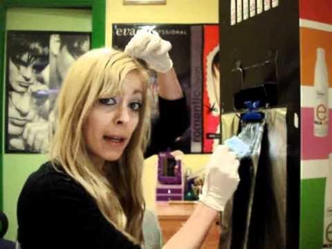 Como decolorar el pelo sola