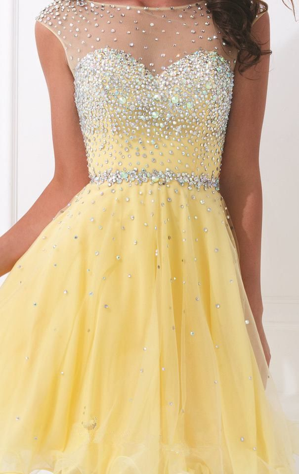 08c69c0a4d49 Short Crystal Homecoming Dress