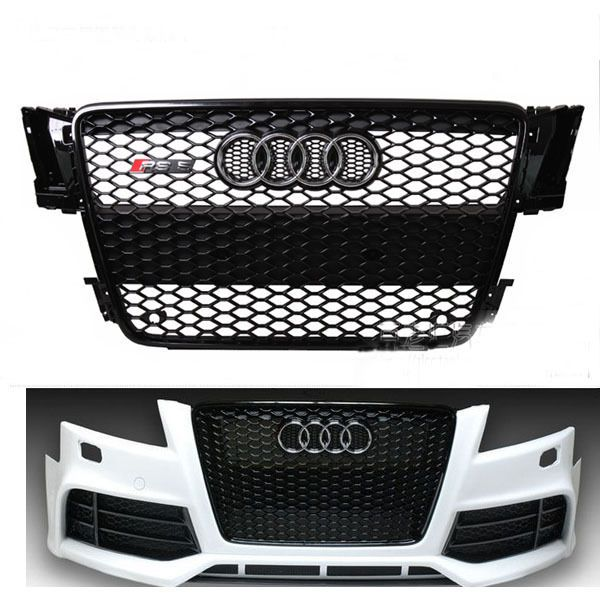 Rs5 Style Gloss Black Mesh Grill Front Grille For Audi A5 S5 Rs5 8t 2008 2011 Audi A5 Audi Black Mesh
