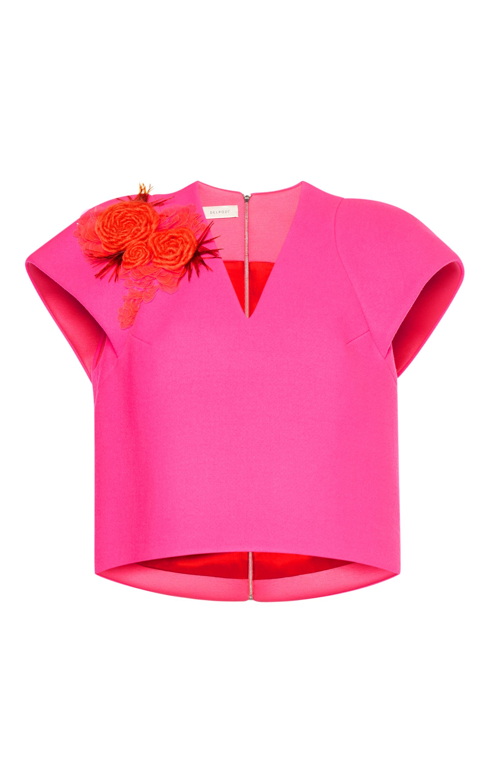 Delpozo Over cloth Shirt Embroidered delpozo UHXwrHZq