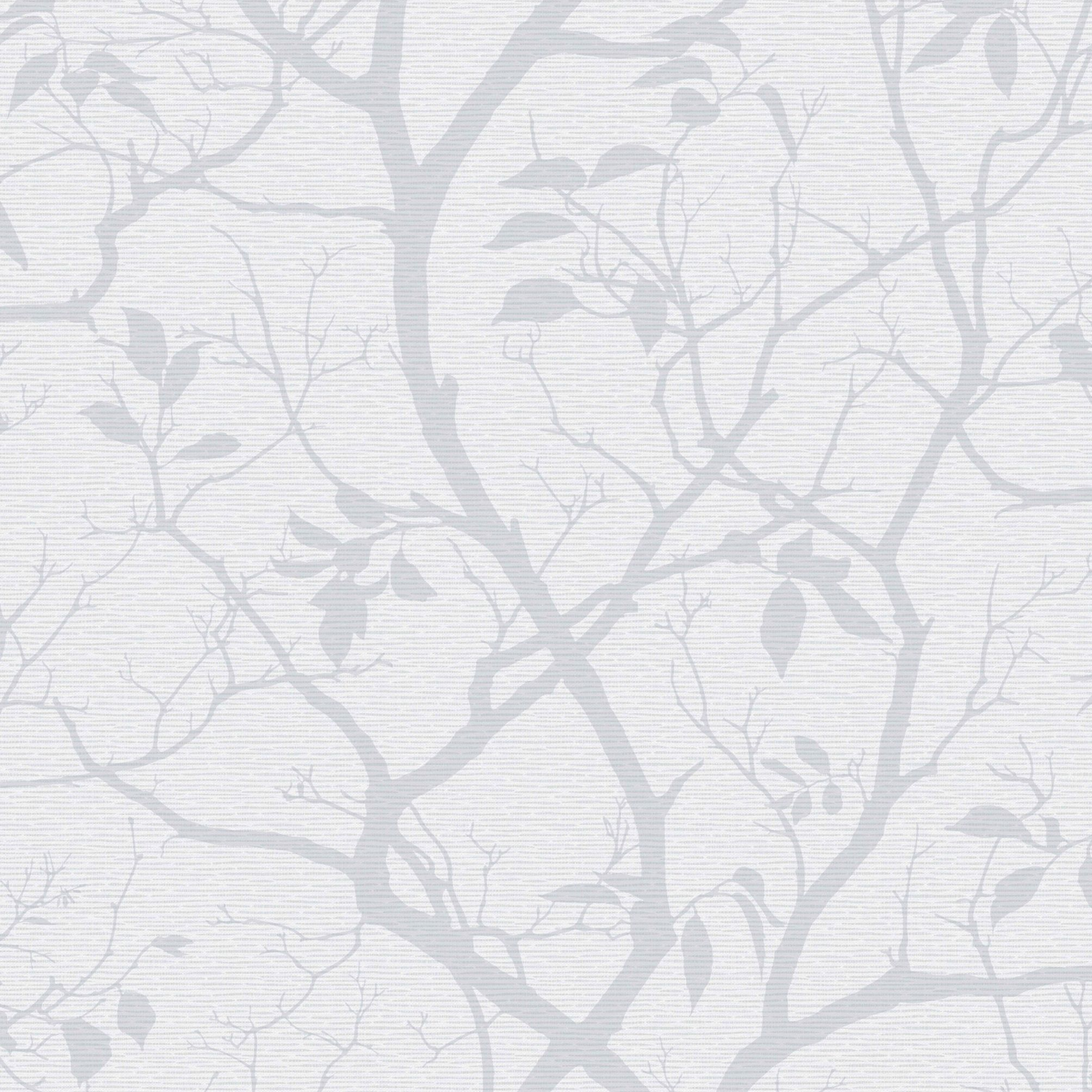 Colours Silverbell Silver Trees Shiny Wallpaper Bedroom Feature