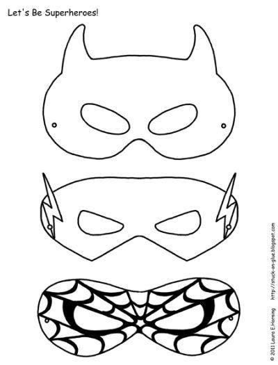 Printable Superhero Mask Spiderman Hero Crafts Superhero Mask