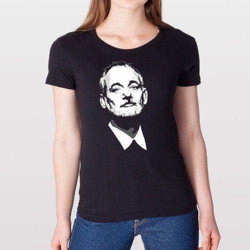 Bill Fn Murray Gray BFM Funny B Fn M Retro Cool Hip Womens Shirt X-Large Black ...