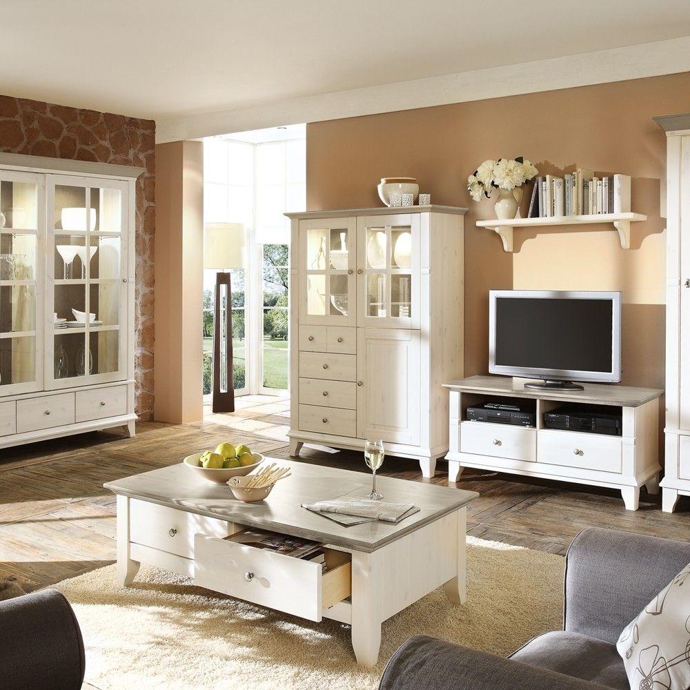 Wohnzimmerschrank Kreta Im Landhausstil, Kiefer | Wohnen.de | Sofa ... Schlafzimmer Landhausstil Kiefer