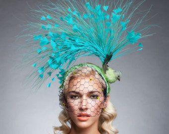 Sombrero Cóctel de alta costura Fascinator tocado de los d6005338a80