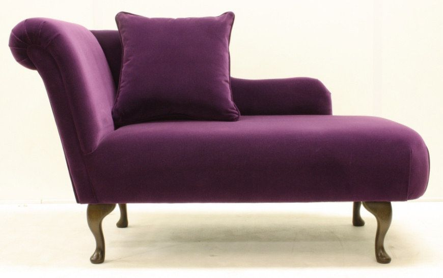 Designs Small Chaise Lounge Purple With Cushions