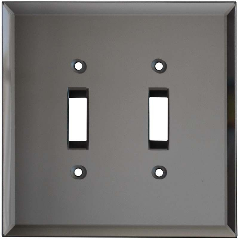 Decorative Gl Mirror Grey Tint Light Switch Plate Covers Outlet Wallplates
