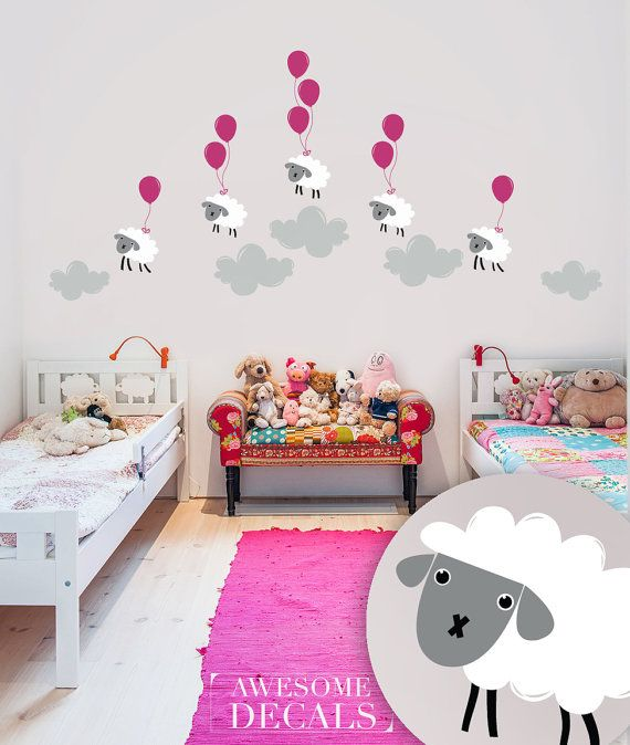 Nursery Sheep Wall Decal Kids Room Sticker Large X 038