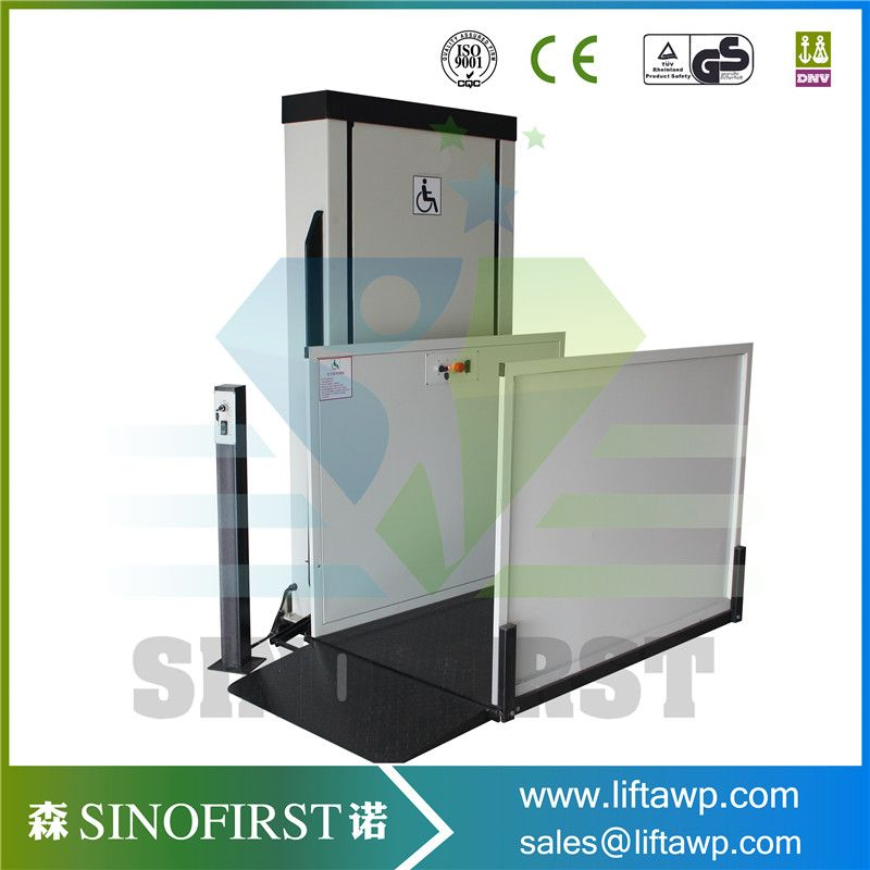 Outdoor Hydraulic Vertical Platfrom Wheelchair Lift for Disabled ...