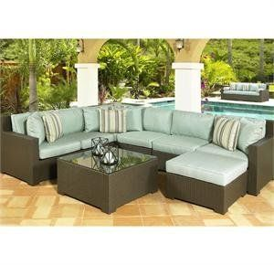 North Cape Melrose Outdoor Sectional By North Cape International 3614 06 This Is The Mel Patio Furniture For Sale Patio Furnishings Outdoor Wicker Furniture