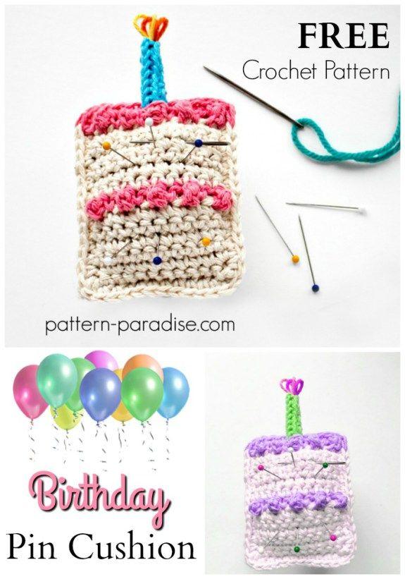 Free Crochet Pattern: Birthday Pin Cushion | Crochet ...