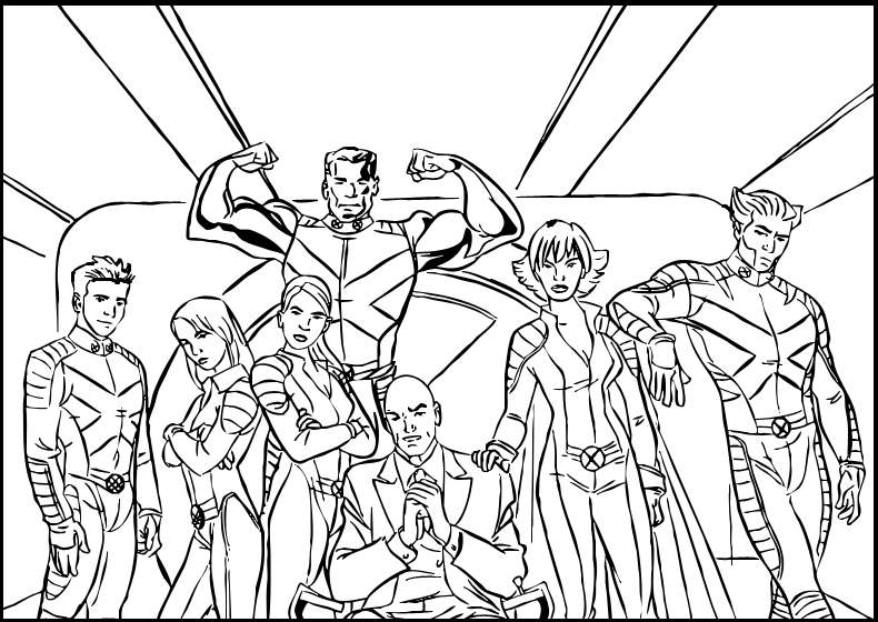X Men Team Heroes Coloring Pages For Kids : Printable X Men Coloring Pages  For Kids